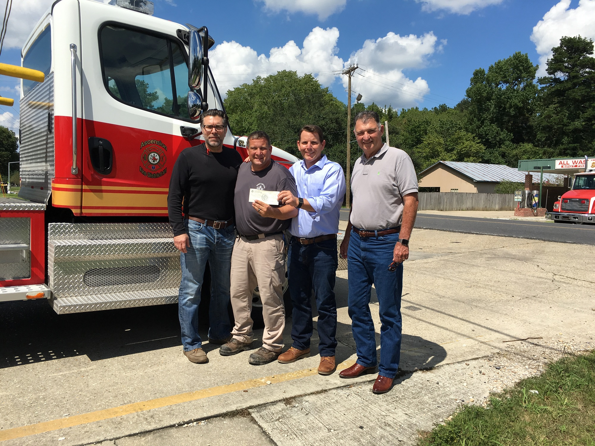 Gauthier Amedee Donate to St. Amant Fire Dept