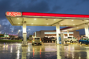 Exxon gas station pumps