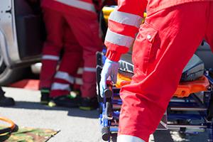 paramedic with stretcher