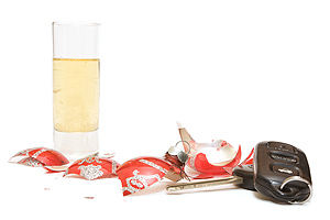 alcoholic drink, broken ornament, and car keys
