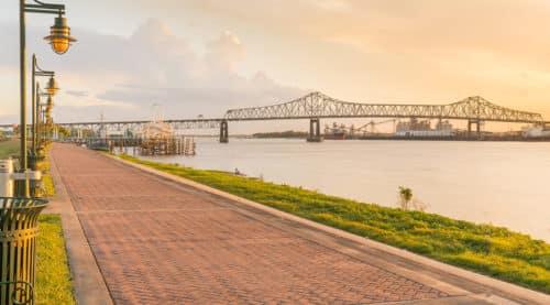 riverfront view of Baton Rouge, LA