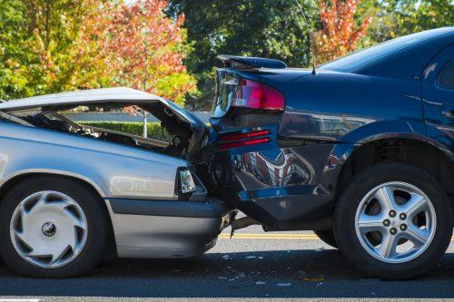 a rear end car accident on the roads near Baton Rouge, LA
